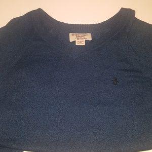 Mens Original Penguin V neck Sweater XL
